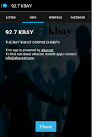 Screenshot of 92.7 KBAY