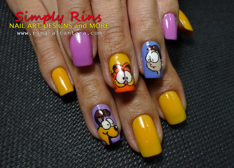 garfield nail art