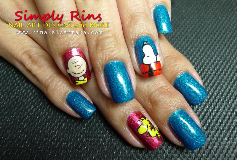 Snoopy nail art design by Simply Rins! - Nail Art: Snoopy Simply Rins