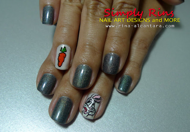 bugs bunny year of the rabbit nail art