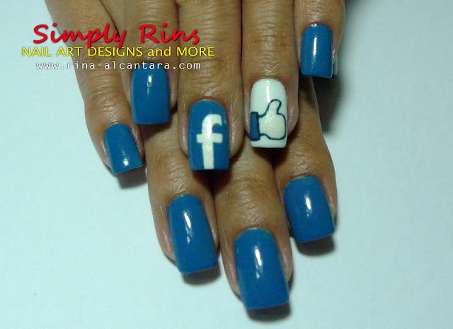 Facebook nail art design