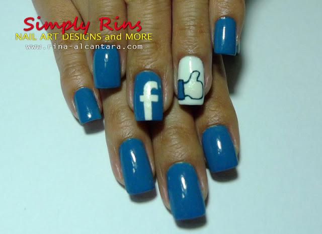 Facebook nail art design