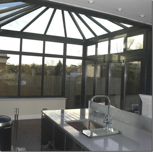 More contemporary conservatory space. Breckenridge Conservatories, UK.