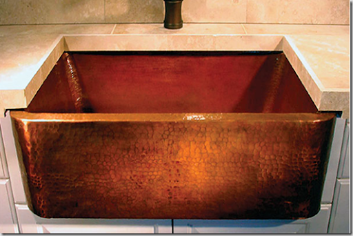 Fresh This weathered copper beauty also from Linkasink is also available in dark bronze here