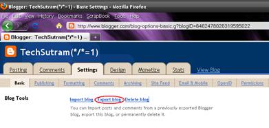 Blogger Export Blog