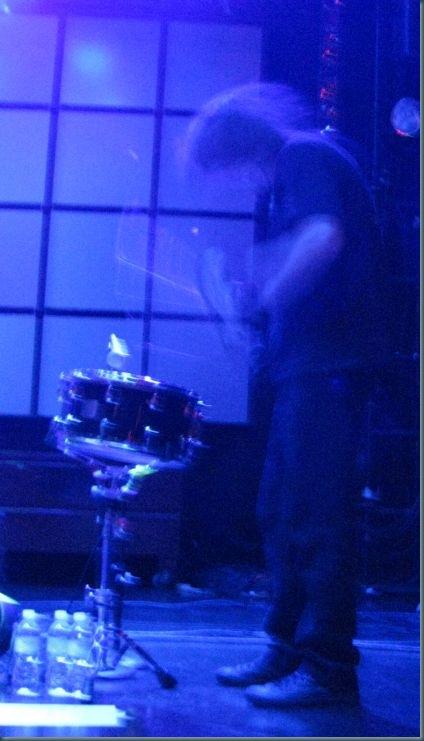 Mike Dillard on drums