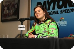 2009 Daytona Dec ARCA Test Danica Patrick news conference