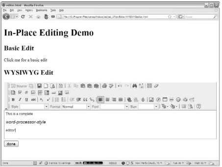This editor looks a lot like a word processor.