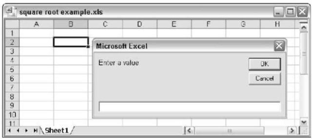 Error handling techniques in excel vba the inputbox function displays a dialog box that asks the user for a value ibookread Read Online