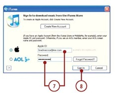 Click Sign In.You are logged into your iTunes Store account.