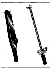 Dial torque wrench Heft) and deflecting beam torque wrench.