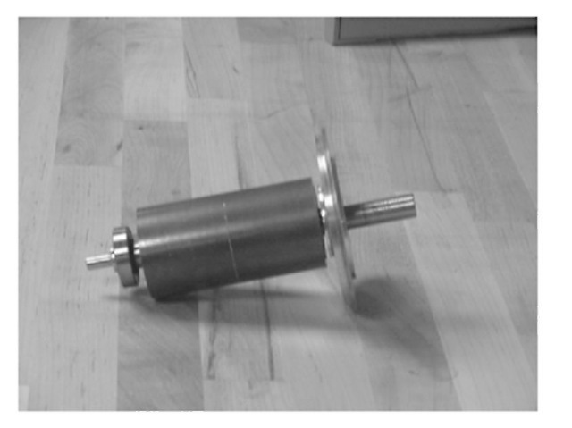 Permanent magnet rotor of a three-phase, 1-hp BLDC motor.