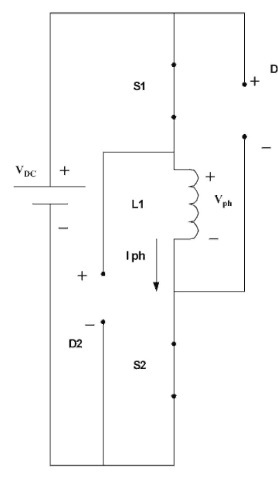 Equivalent circuit when the two switches are on.