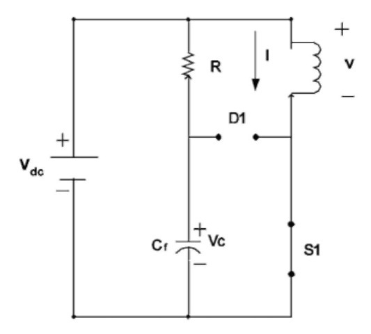 Equivalent circuit when S1 is on.