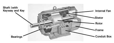 AC induction motor construction