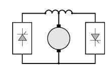 Double-converter reversing drive
