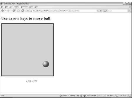 You can move the ball with the arrow keys.