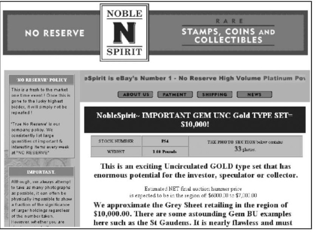 One of Noblespirit's fascinating auctions -without a reserve!