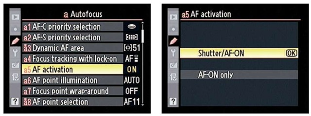 You can choose to focus only with the AF-ON button.