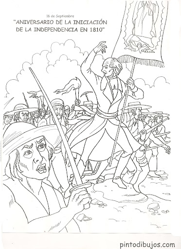 Mexico's independence  coloring pages