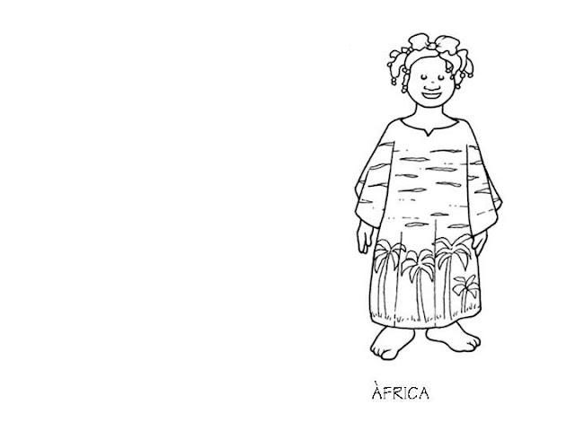 Vestuario de Africa para colorear