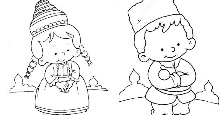 Outfit of russia free coloring pages coloring pages for Outfit coloring pages