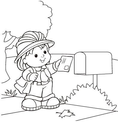 為孩子們的著色頁 Mail Carrier Free Coloring Pages Free Coloring Books By Mail