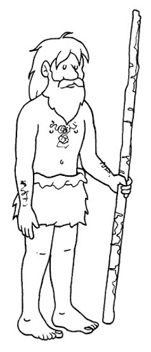 hominid - free coloring pages