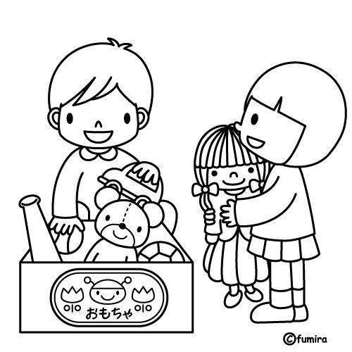 Free Coloring Pages Of Cleaning Up Toys