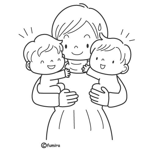 Twins, free coloring pages | Coloring Pages