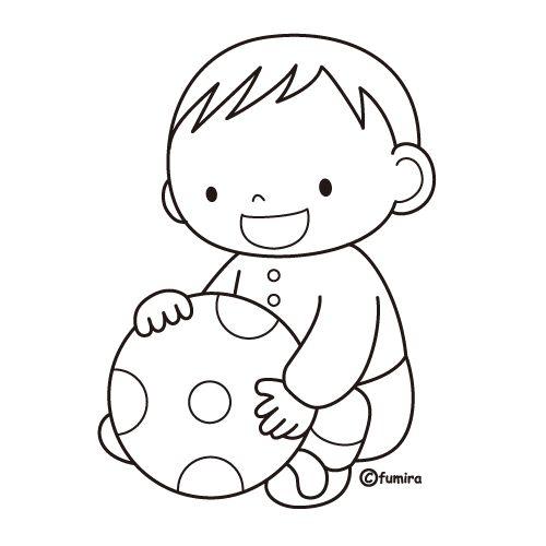 Niño jugando con balón para colorear | Dibujos Disney