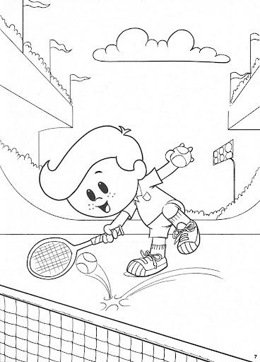 Pinto Dibujos: Jugando Tenis para colorear