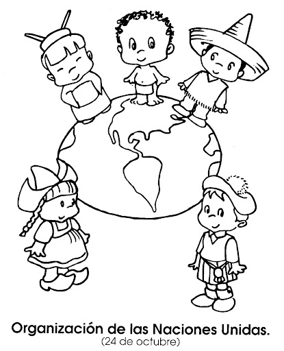 United Nations Day - October 24, free coloring pages