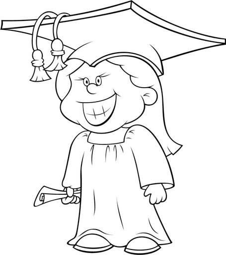 Hello Kitty Graduation Coloring Pages : 為孩子們的著色頁 graduates free coloring pages