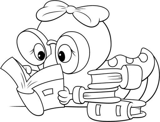 Niños y niñas leyendo para colorear - Imagui
