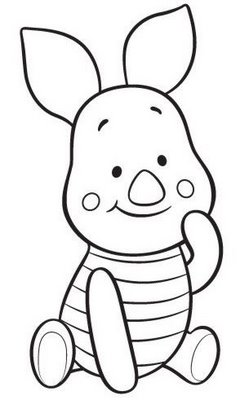 baby winnie pooh free coloring pages - Disney Baby Piglet Coloring Pages