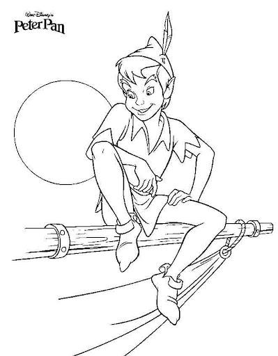 Peter Pan para colorear
