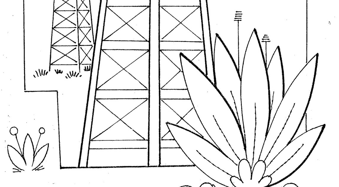 oil rigs free printables pages Coloring Pages