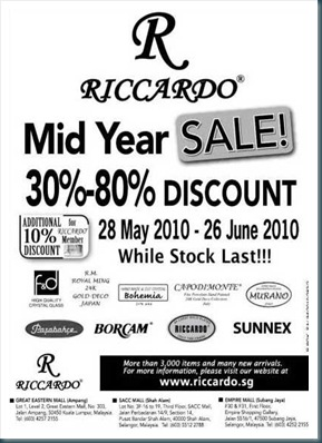 Riccardo-2010-Mid-Year-Sale