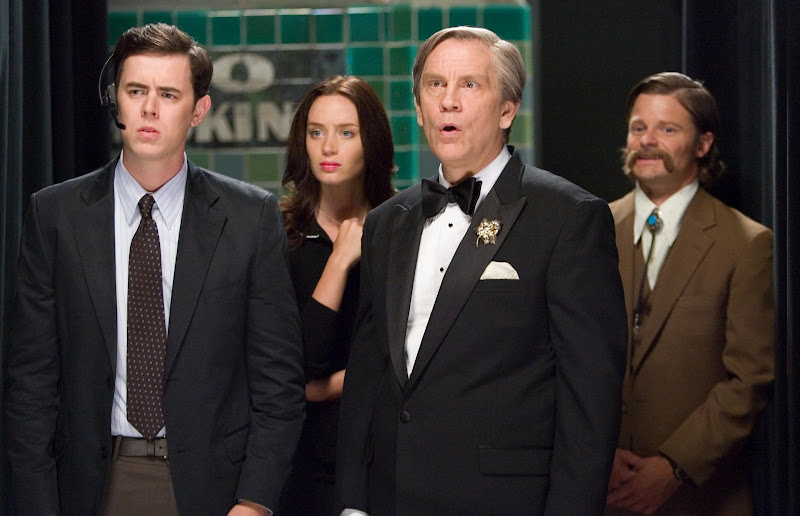 Colin Hanks, Emily Blunt, John Malkovich and Steve Zahn in THE GREAT BUCK HOWARD, a Magnolia Pictures release. Photo courtesy of Magnolia Pictures.