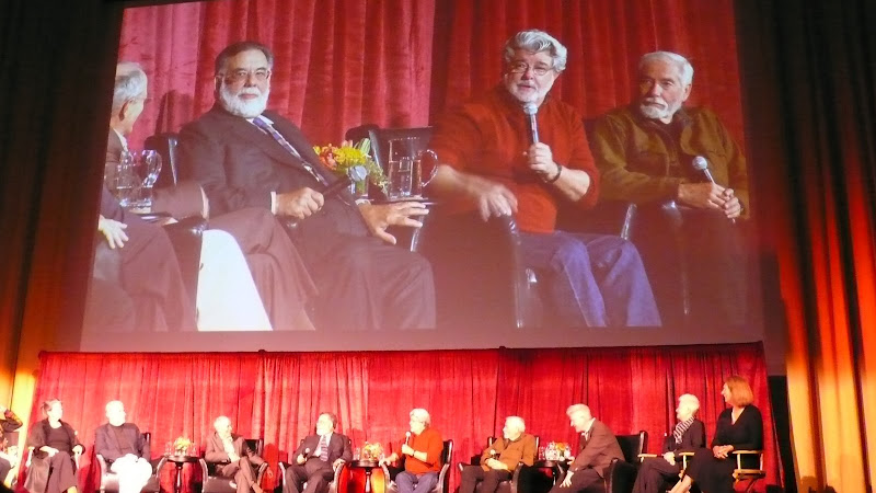 Coppola joined onstage by Carroll Ballard, George Lucas, Walter Murch and Matthew Robbins