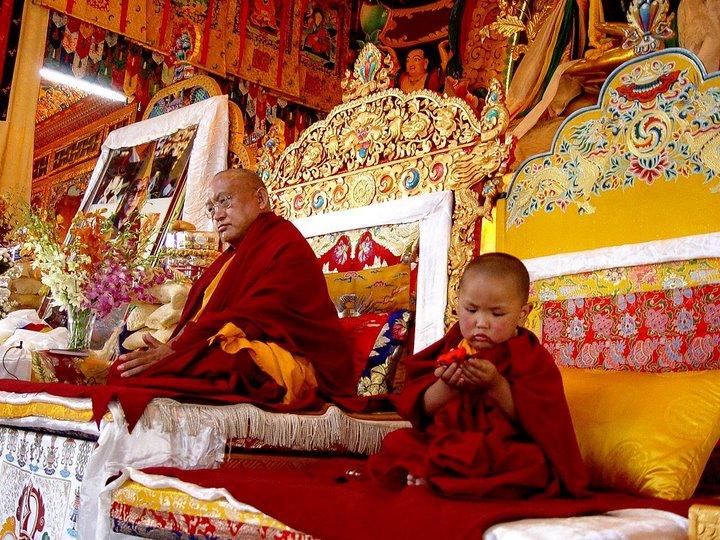 Unmistaken Child at enthronement  ceremony, Photo : Ven. Thubten Lhundup