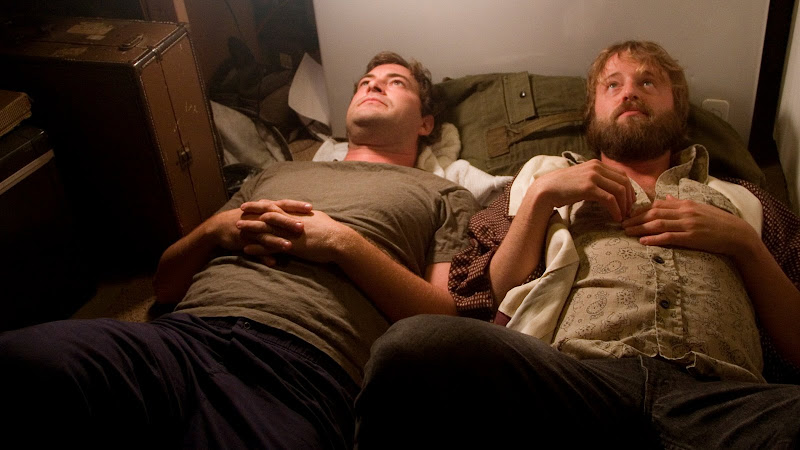 Mark Duplass and Joshua Leonard in HUMPDAY, a Magnolia Pictures release.  Photo courtesy of Magnolia Pictures.