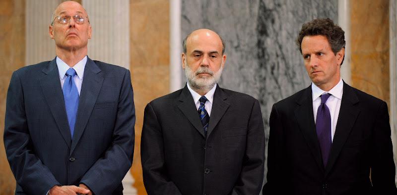 Henry Paulson, Ben Bernanke and Timothy Geithner in the documentary INSIDE JOB
