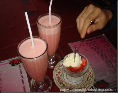 strawberry ice cream and milkshakes