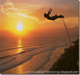 jump in the sunset