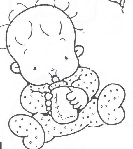 Dibujo de un bebé para colorear - Imagui