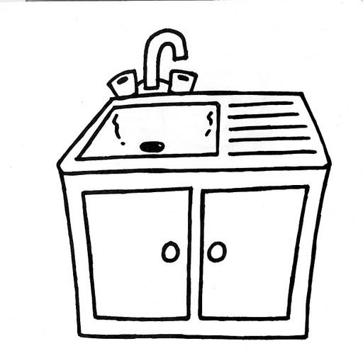Dibujos de muebles y cosas de la casa para colorear for Cosas de hogar