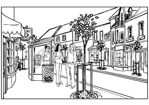 Paisaje urbano para colorear - Imagui