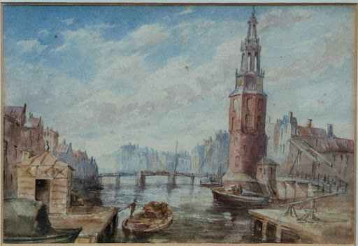 Watercolour: Dutch Scene, Amsterdam